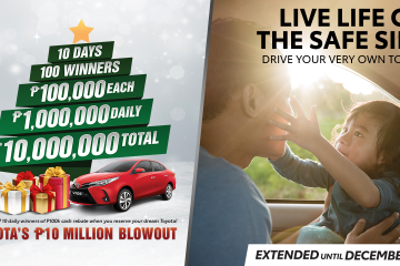 Toyota celebrates the holiday season with a P10 Million Blowout and Extended Affordable Deals