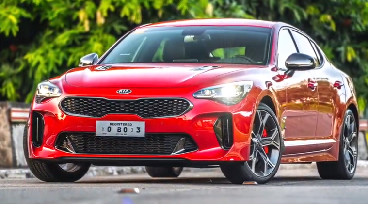KIA's potent sting is armed with a Twin-Turbo V6